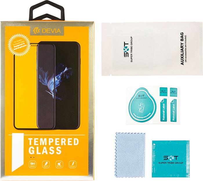 Защитное стекло Devia Van Series Full Screen Exploision-proof Tempered Glass для Apple Iphone X/XS, глянцевое защитное стекло devia entire view tempered glass 0 26мм для apple iphone x xs прозрачный