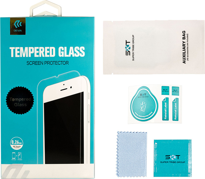Защитное стекло Devia Tempered Glass 0.26мм для Apple iPhone 6/6S, глянцевое