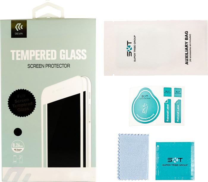 Защитное стекло Devia Full Screen Tempered Glass 0.26мм для Apple iPhone 6/6S, глянцевое