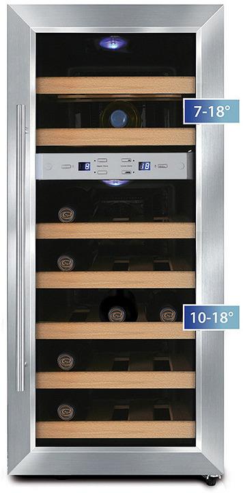 Холодильник винный CASO WineDuett 21, серебристый CASO