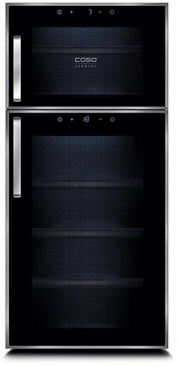 Холодильник винный CASO WineDuett Touch 21, черный CASO
