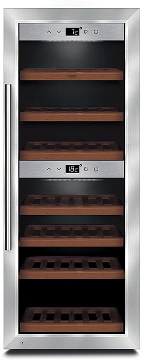 Холодильник винный CASO WineComfort 38, серебристый CASO