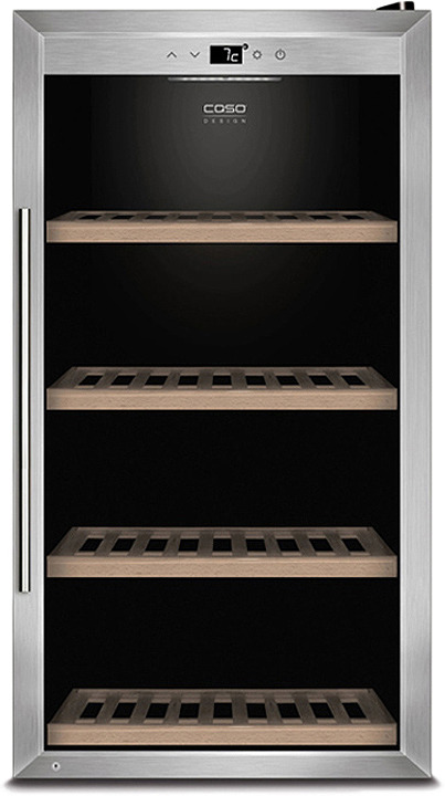 Холодильник винный CASO WineSafe 75, стальной CASO
