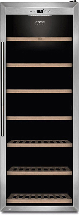 Холодильник винный CASO WineSafe 137, стальной CASO