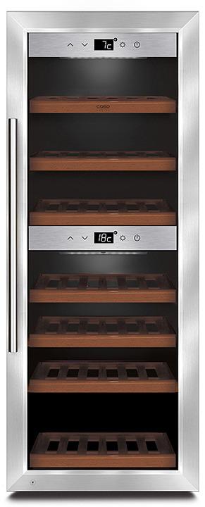 Холодильник винный CASO WineMaster 380 Smart, стальной CASO