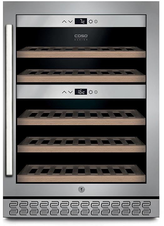 Холодильник винный CASO WineChef Pro 40, черный, стальной винный шкаф caso winechef pro 40 серебристый