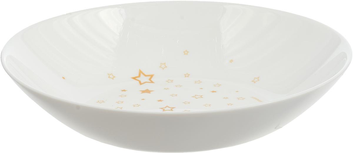Тарелка глубокая Luminarc Старс, P1500, белый, диаметр 20 см тарелка глубокая luminarc ализэ перл n4836 белый диаметр 23 см