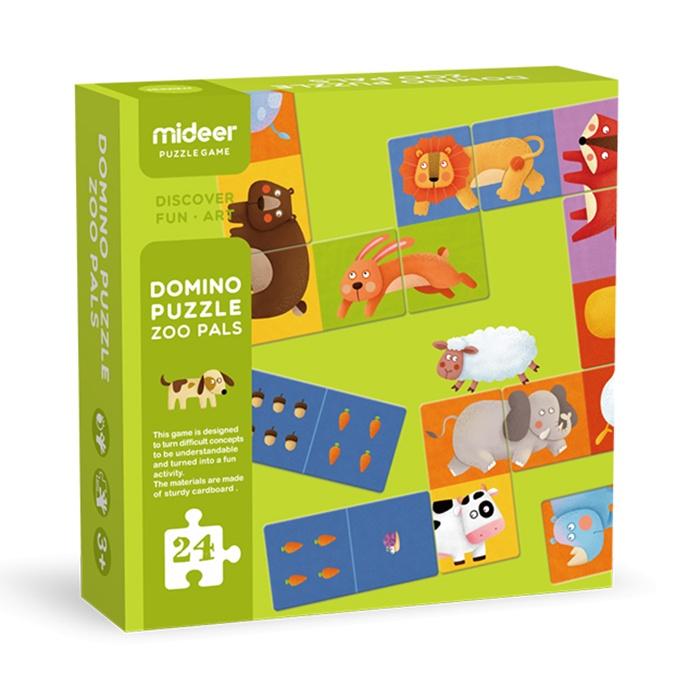 Домино Mideer Детская настольная игра, Зоопарк развивающая игра rico домино зоопарк
