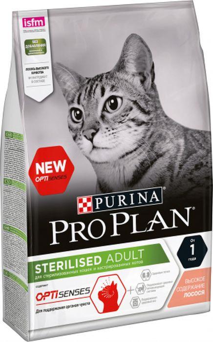 Корм сухой Pro Plan для стерилизованных кошек, с лососем, 3 кг