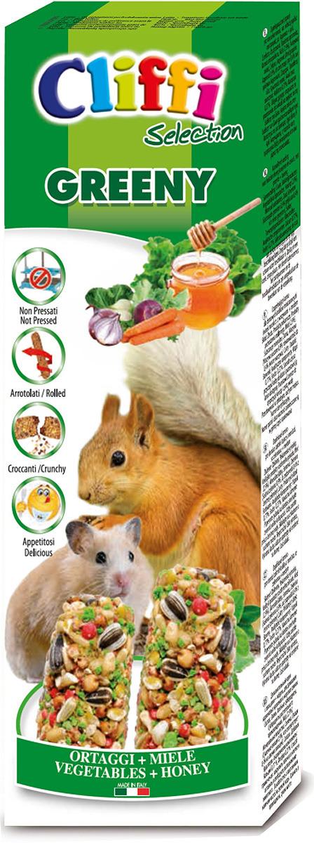 Лакомство Cliffi Sticks Hamsters and Squirrels With Vegetableas and Honey Палочки с овощами и медом, для хомяков и белок, 110 г хлебобулочные изделия