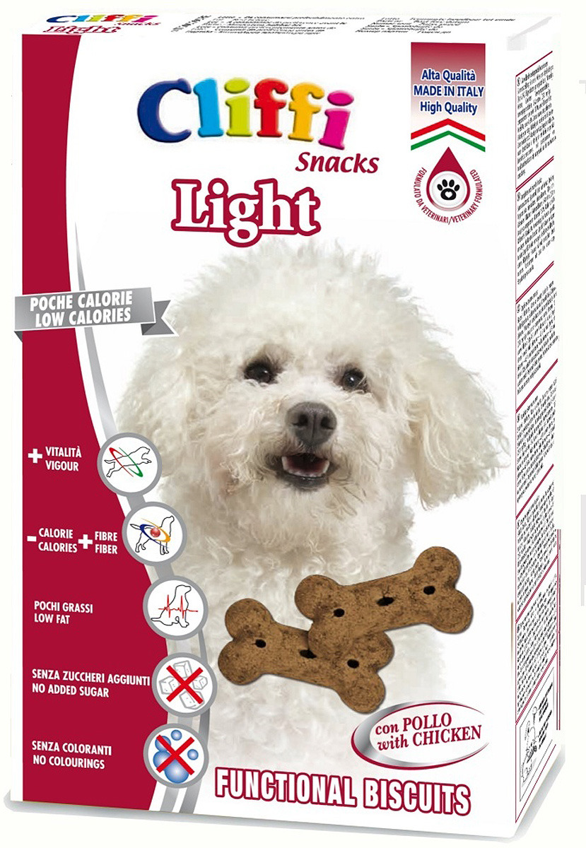 Лакомство Cliffi Light Бисквиты Контроль веса, для собак мелких пород, 300 г