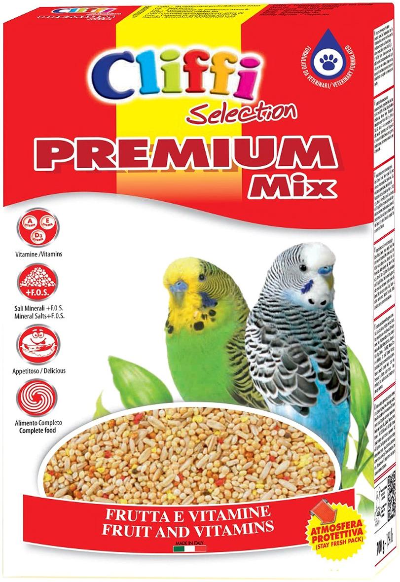 Корм сухой Cliffi Premium Mix Budgerigars, для волнистых попугаев, 800 г корм сухой cliffi superior mix pappagallini with biscuit бисквит для волнистых попугаев 5000 г
