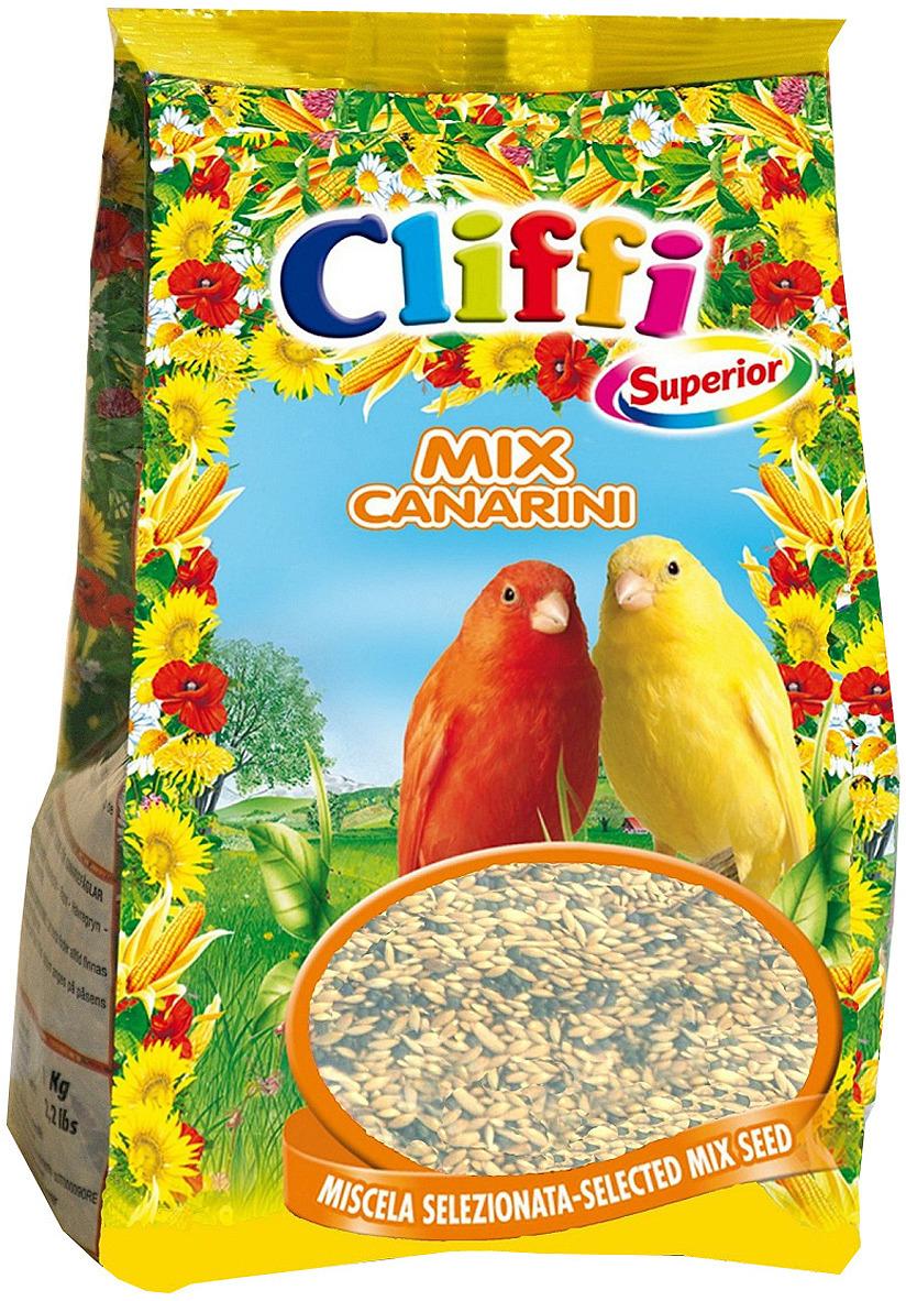 Корм сухой Cliffi Superior Mix Canaries, для канареек, 1000 г корм сухой cliffi superior mix pappagallini with biscuit бисквит для волнистых попугаев 5000 г