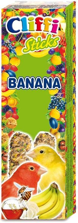 Лакомство Cliffi Sticks Canaries Banana and Honey Палочки с бананом и медом, для канареек, 60 г хлебобулочные изделия