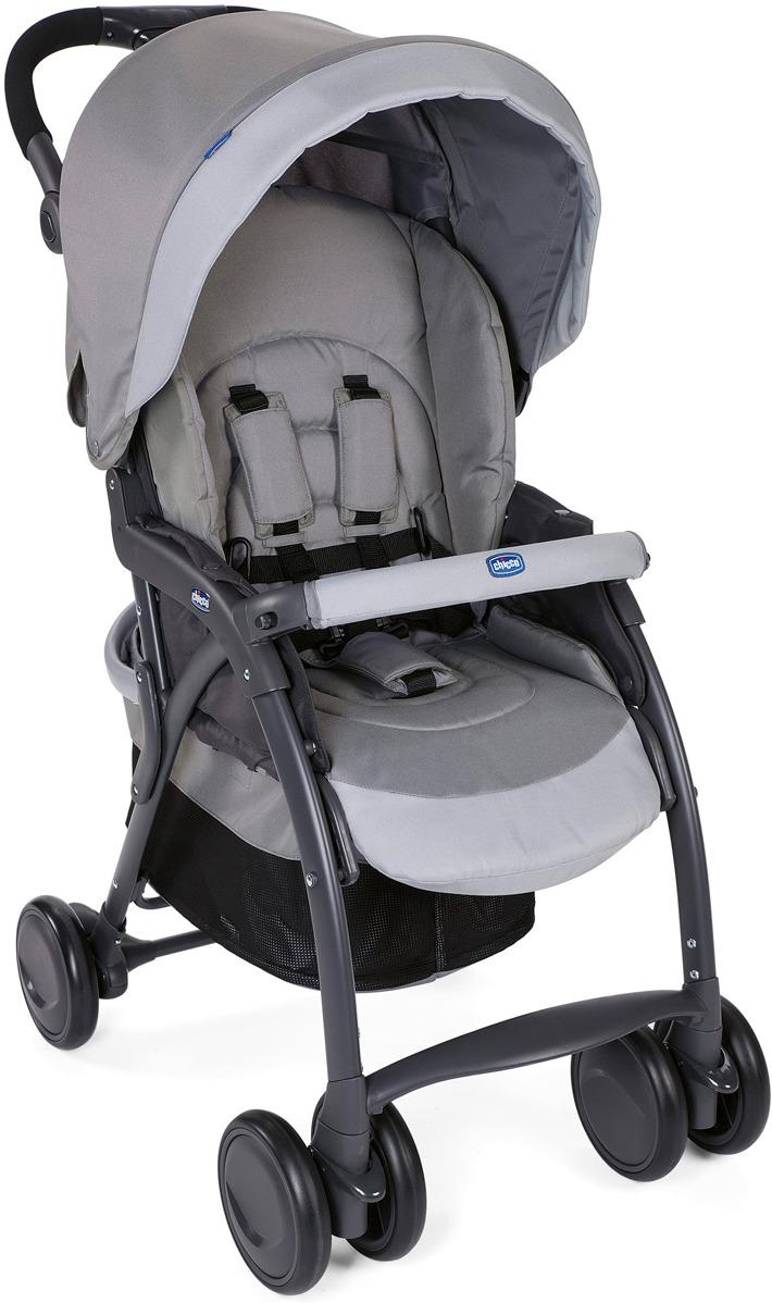 Коляска прогулочная Chicco Simplicity Top Grey прогулочная коляска chicco activ3 grey