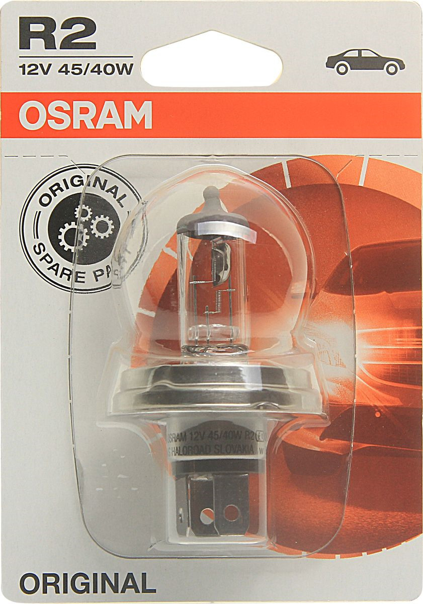 Фото - Лампа автомобильная Osram R2 (45/40) P45t-41 Halogen 12V, 6418301B лампа osram h8 35w 12v original line