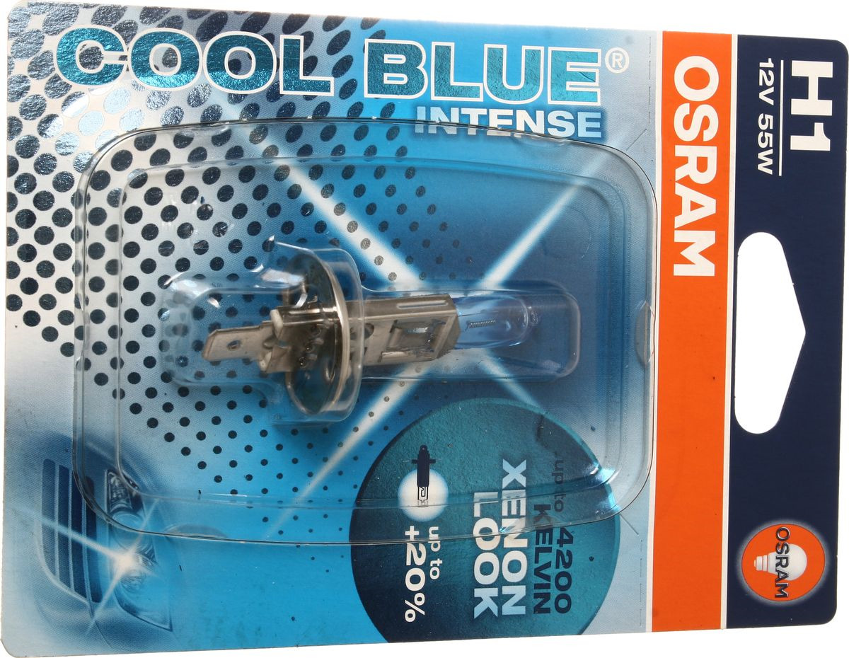 Лампа автомобильная Osram H1 (55) P14.5s +20% Cool Blue Intense 4200K 12V, 64150CBI01B лампа osram h1 100w 12v off road super bright premium