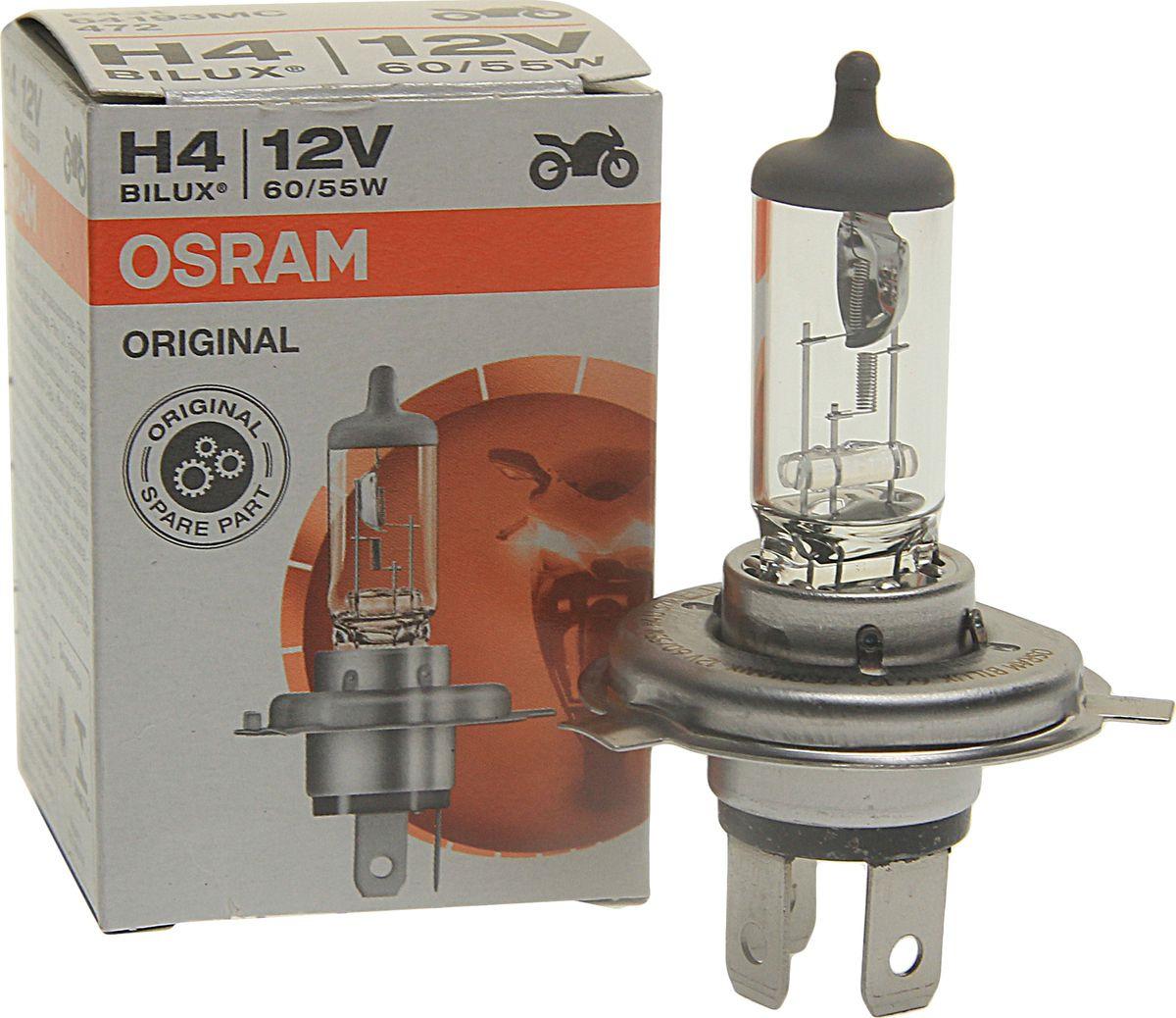 Лампа автомобильная Osram H4 (60/55) P43t 12V, 64193MC