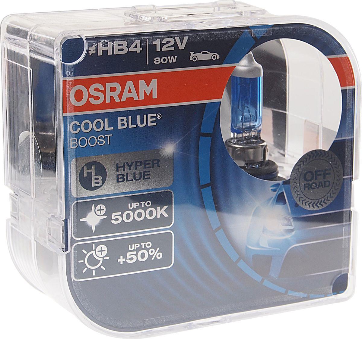 Лампа автомобильная Osram HB4/9006 (80) P22d +50% Cool Blue Boost 5000K 12V , 69006CBBHCB, 2 шт highscreen boost 2 se