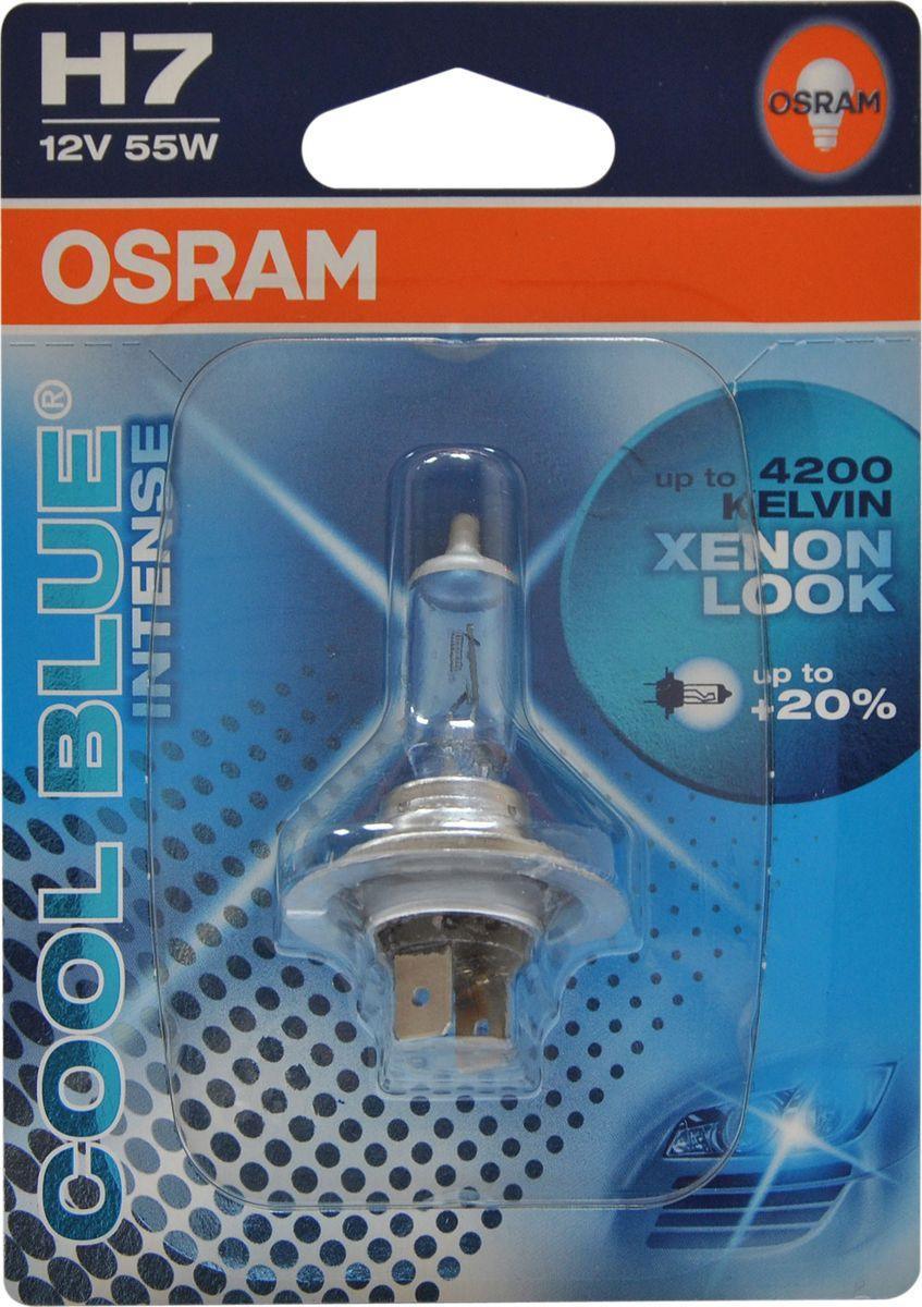 цена на Лампа автомобильная Osram H7 (55) PX26d +20% Cool Blue Intense 4200K 12V, 64210CBI01B