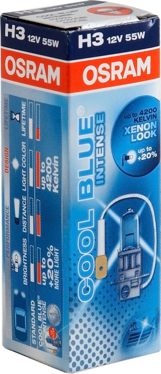 цена на Лампа автомобильная Osram H3 (55) PK22s+20% Cool Blue Intense 4200K 12V, 64151CBI