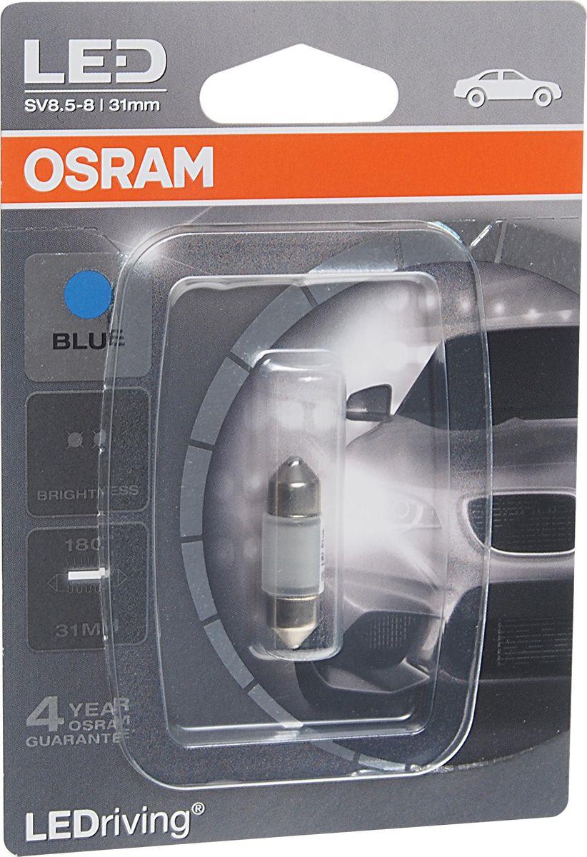 Лампа автомобильная Osram C5W (SV8.5-8) 31 мм LED Blue Standart 12V, 6431BL01B светодиодные лампы osram для автомобиля