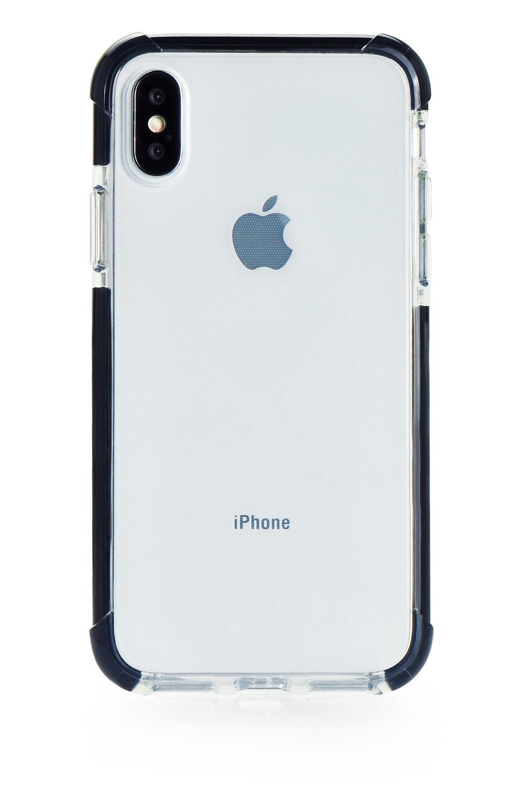 """Чехол для сотового телефона Gurdini Crystal Ice 905576 силикон противоударный для Apple iPhone X/XS 5.8"""", черный"""