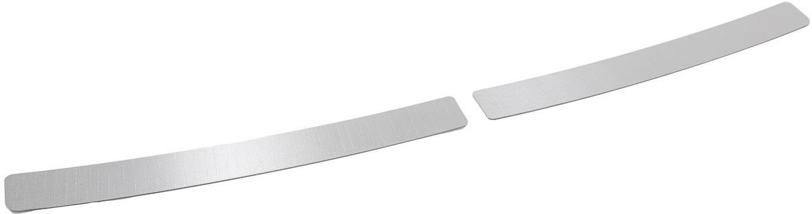 Накладки на задний бампер Rival для Kia Soul II рестайлинг 2017-н.в., нерж. сталь, 2 шт. NB.2812.1 накладки на пороги rival для hyundai creta 2016 н в нерж сталь с надписью 4 шт np 2310 1