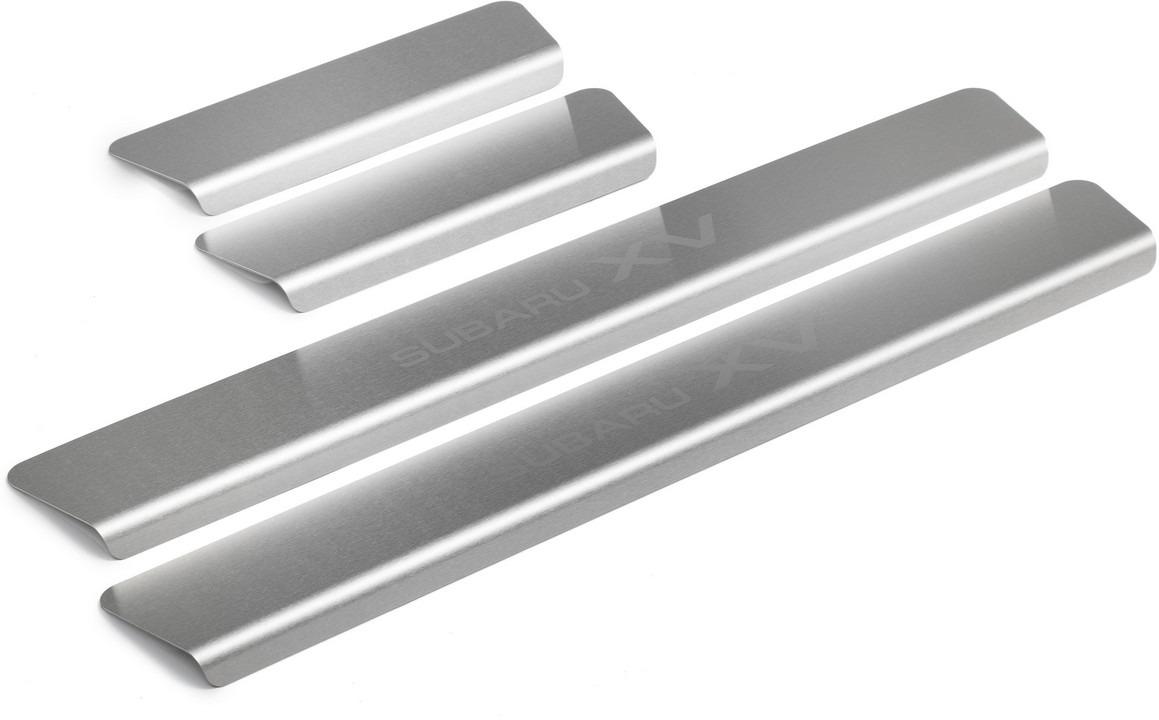 Накладки на пороги Rival для Subaru XV II 2017-н.в., нерж. сталь, с надписью, 4 шт. NP.5401.3 накладки на пороги rival для hyundai creta 2016 н в нерж сталь с надписью 4 шт np 2310 1
