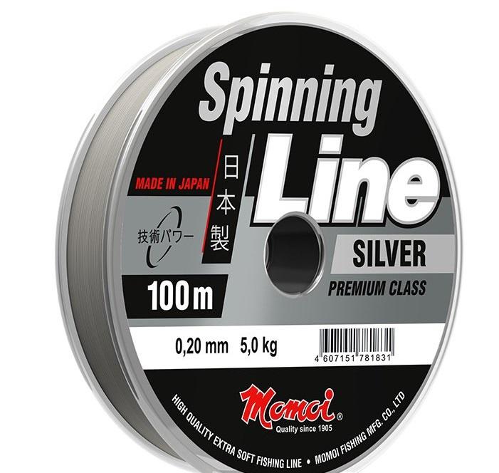 Леска для рыбалки Momoi Silver, серебристый