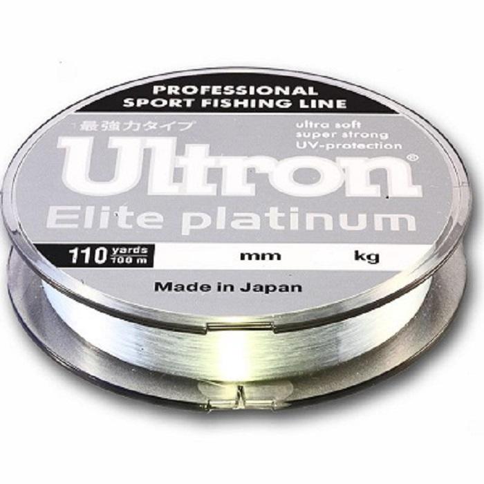 Леска для рыбалки ULTRON Elite Platinum, прозрачный