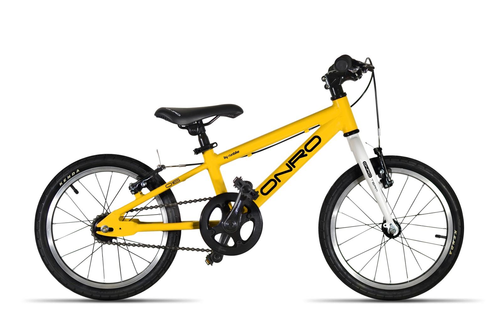 Детский велосипед ONRO by runbike 16 Желтый onro велосипед детский onro by runbike диаметр колес 16