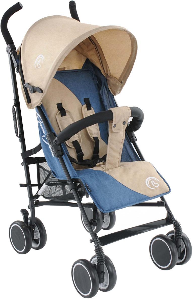 Коляска-трость BamBola Lino НР-310, бежевый, индиго муфта bambola для коляски с карманом на молнии бордо