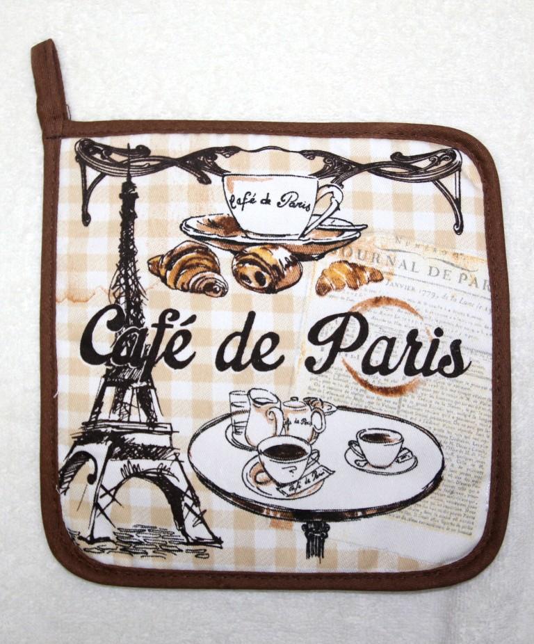 Прихватка Pastel Париж, бежевый