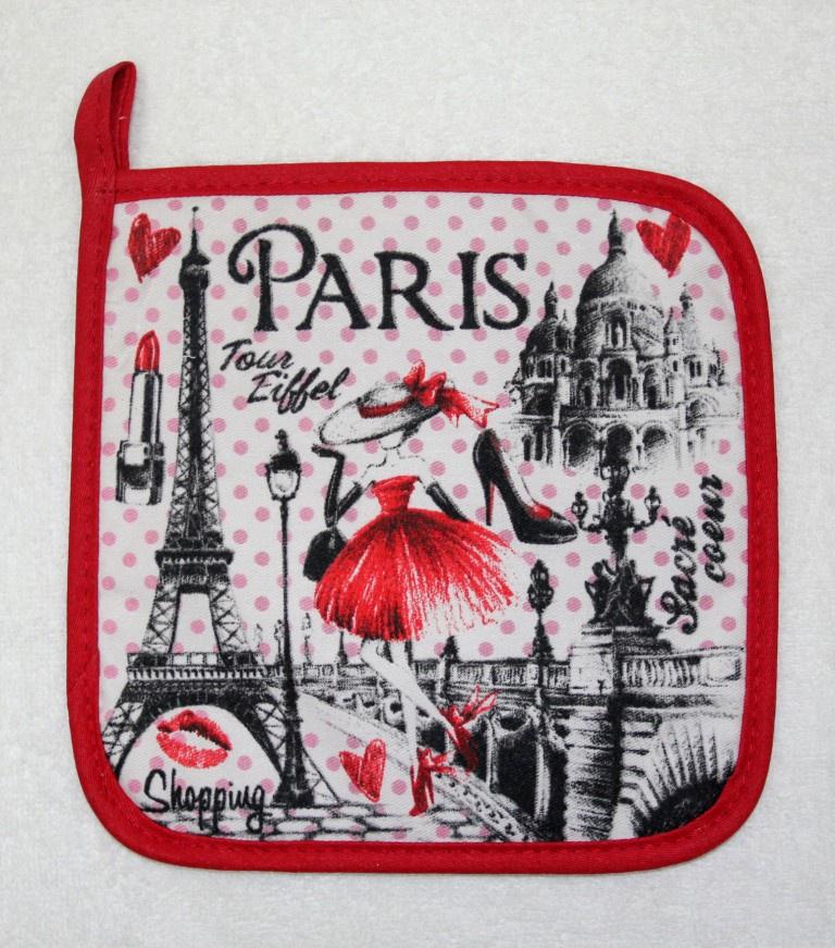 Прихватка Pastel Париж, красный