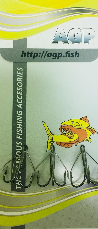 Крючок рыболовный AGP незацепляйка, серебристый, 3