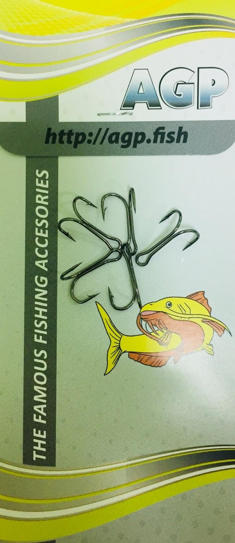Крючок рыболовный AGP двойники, серебристый, 25