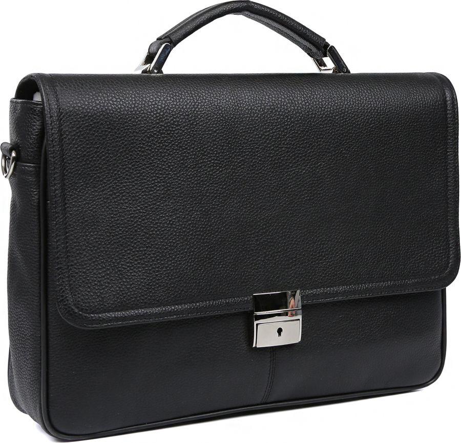 Портфель мужской Fabretti, 98777-black, черный портфель fabretti fabretti fa003bmxxm03