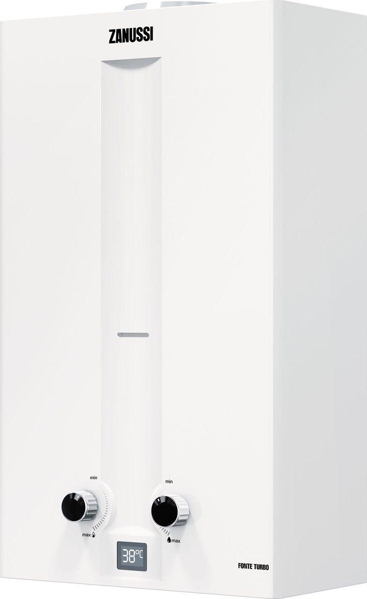КолонкагазоваяZanussiGWH10FonteTurbo, белый stout элемент дымохода dn60 100 конечный участок 830мм дымохода для горизонт прохода через стену с оголовком из пластика