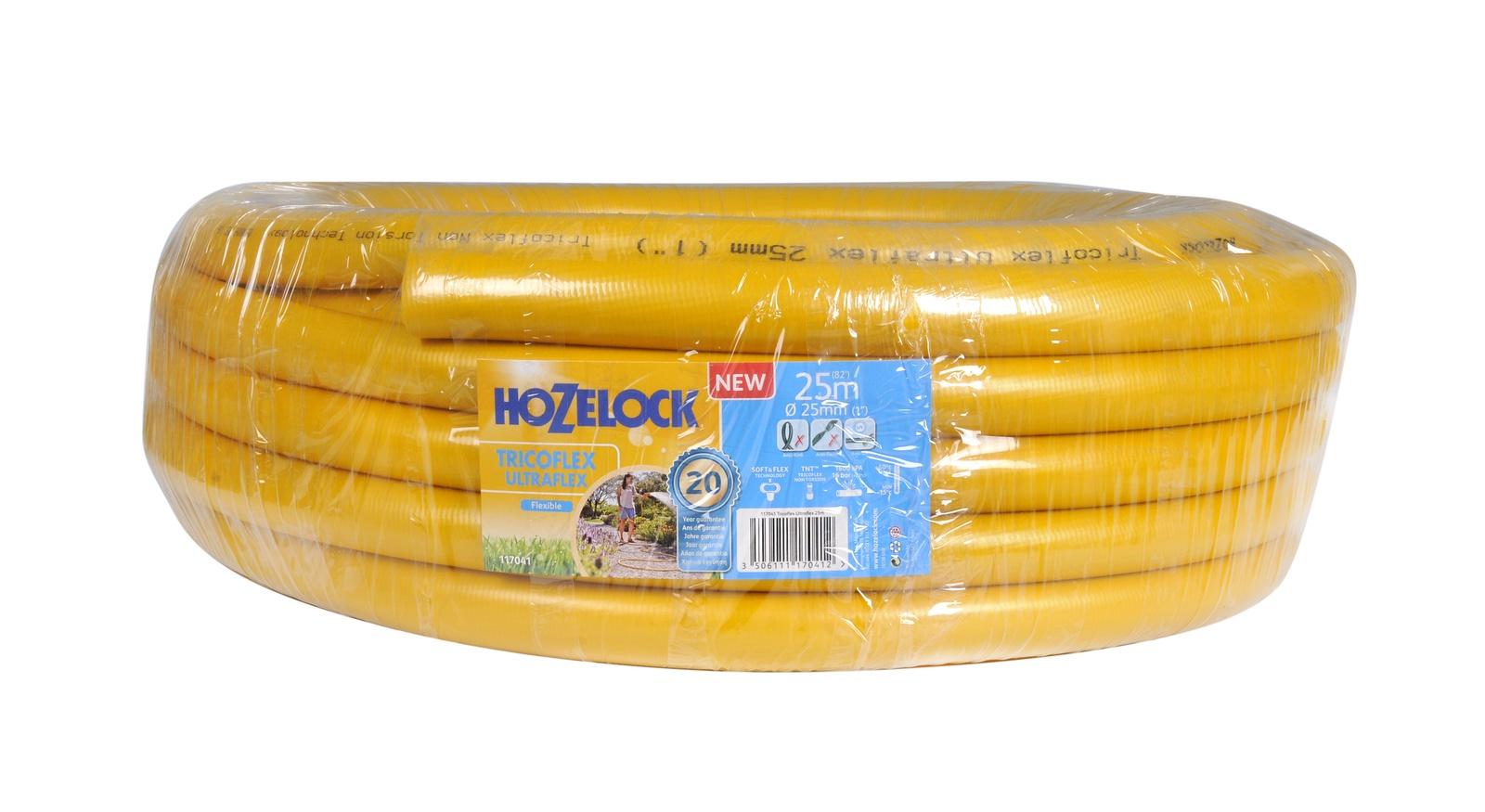 """Шланг поливочный Hozelock """"Tricoflex Ultraflex"""" 117041, 1"""" 25 м, желтый"""