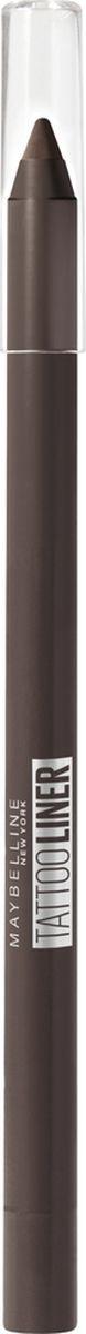 Карандаш для глаз Maybelline New York Tatoo Liner, гелевый, интенсивный цвет, оттенок 910, каштановый, 1,3 г