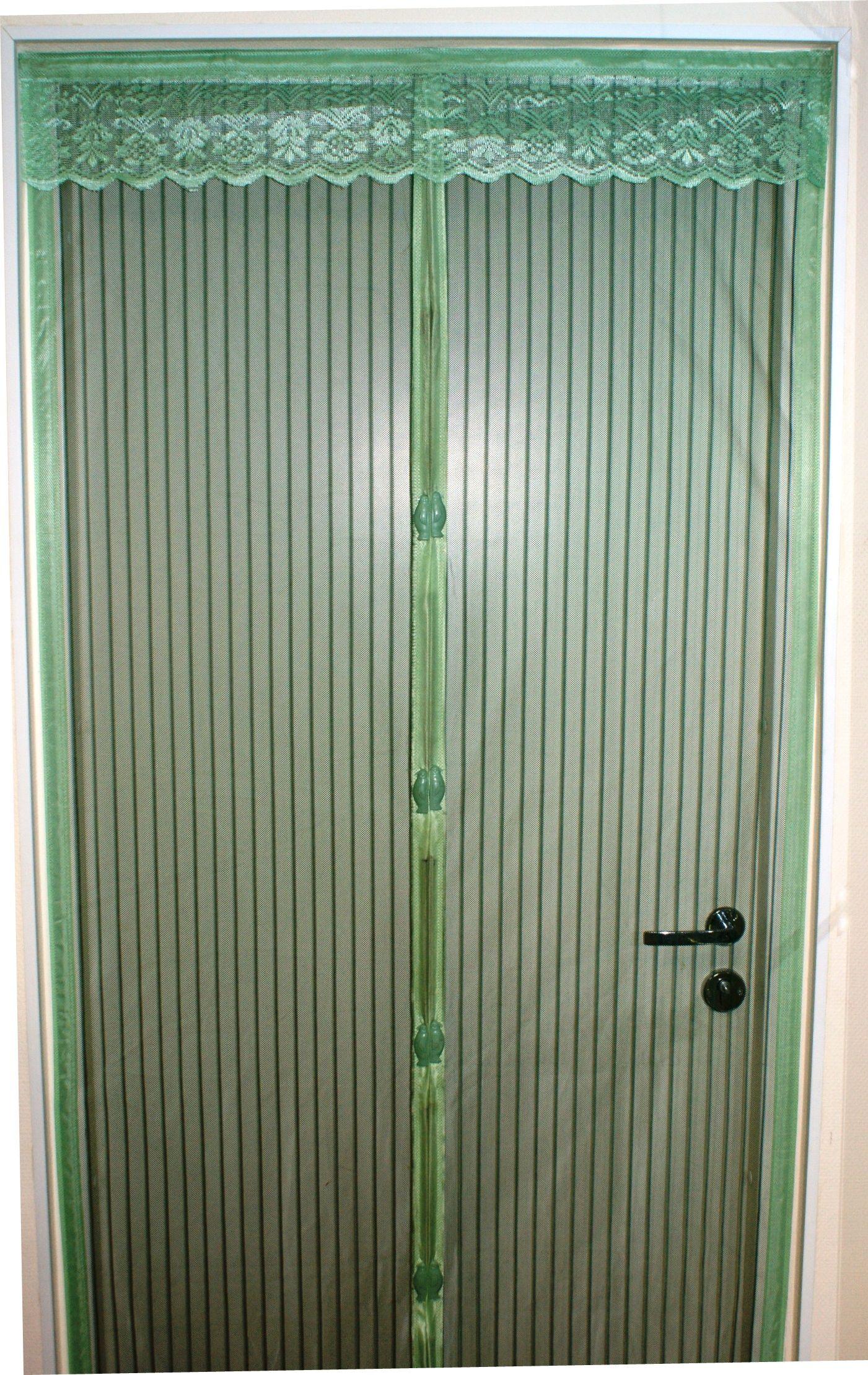 москитные сетки Сетка антимоскитная MARKETHOT Москитная сетка на магнитах-птичках, зеленый