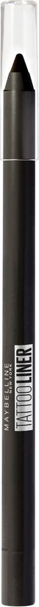 Карандаш для глаз Maybelline New York Tatoo Liner, гелевый, интенсивный цвет, оттенок 900, черный, 1,3 г