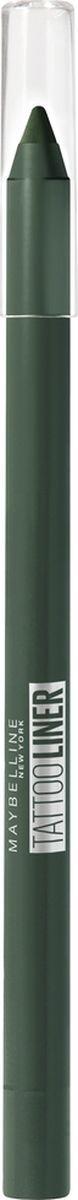 Карандаш для глаз Maybelline New York Tatoo Liner, гелевый, интенсивный цвет, оттенок 932, изумрудный, 1,3 г