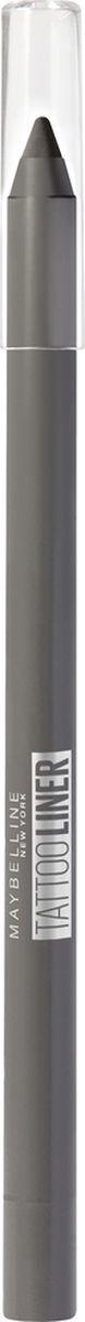 Карандаш для глаз Maybelline New York Tatoo Liner, гелевый, интенсивный цвет, оттенок 901, графитовый, 1,3 г