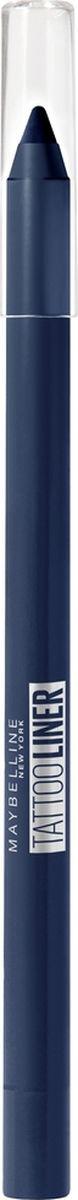 Карандаш для глаз Maybelline New York Tatoo Liner, гелевый, интенсивный цвет, оттенок 920, синий, 1,3 г