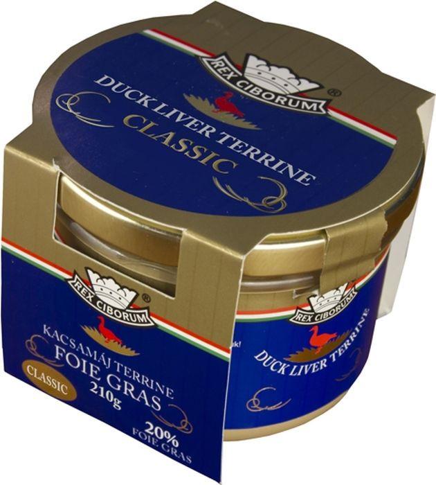Мясные консервы Rex Ciborum Террин из утиной печени, 20% фуа-гра, 210 г