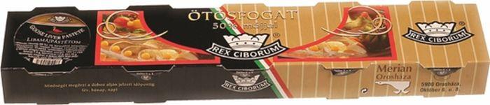 Мясные консервы Rex Ciborum Паштет из гусиной печени, 5 шт по 50 г