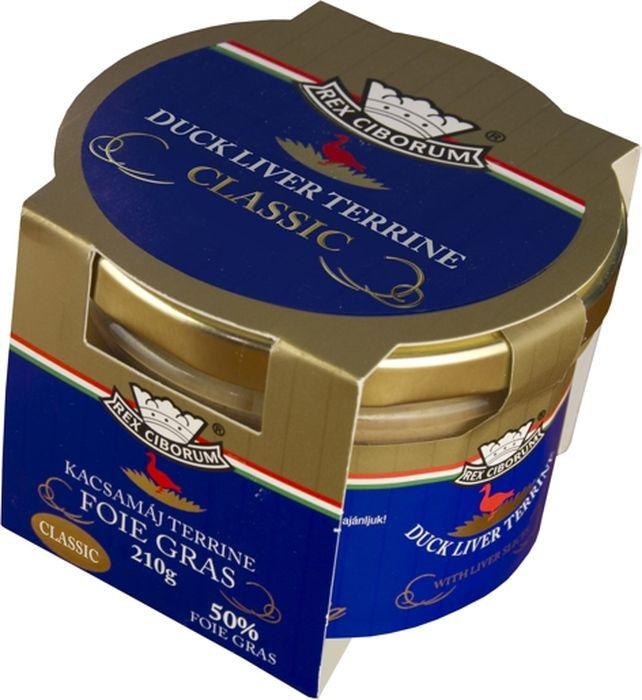 Мясные консервы Rex Ciborum Террин из утиной печени, 50% фуа-гра, 210 г