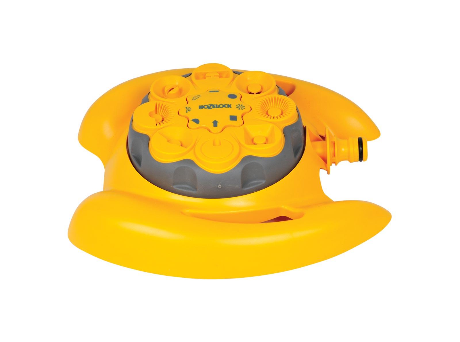 Разбрызгиватель/дождеватель Hozelock 2515 мультиспринклерный, 79 кв. м, 8 режимов, желтый, серый